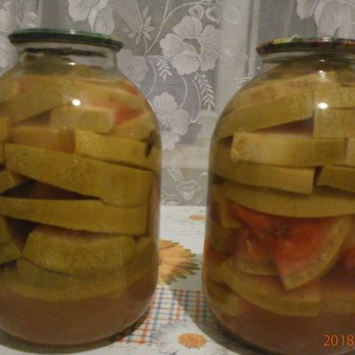 Арбузы на зиму - рецепт с фото