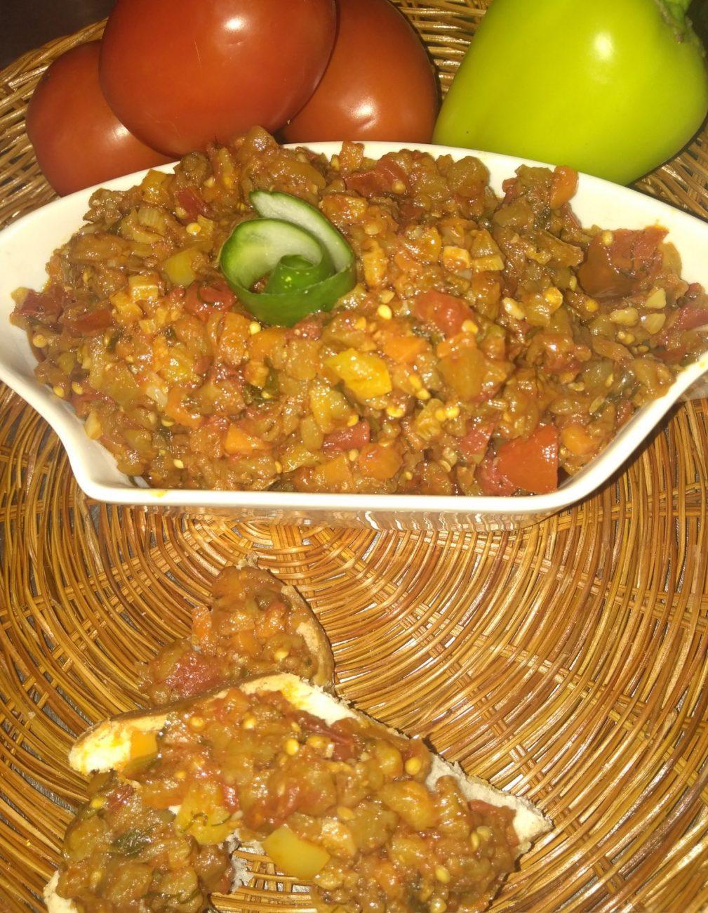 Овощной тар-тар с баклажанами