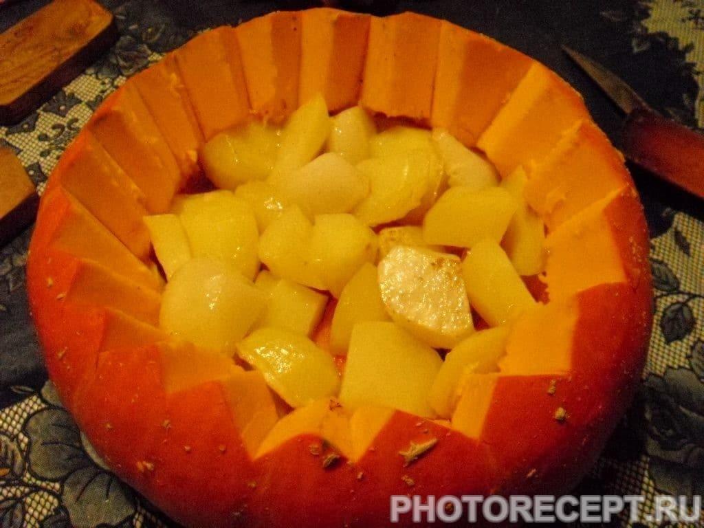 Фото рецепта - Фаршированная тыква с мясом - шаг 4