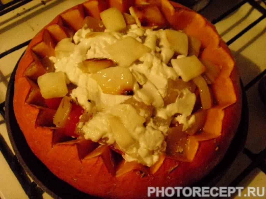 Фото рецепта - Фаршированная тыква с мясом - шаг 6