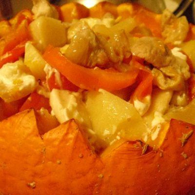 Фаршированная тыква с мясом - рецепт с фото
