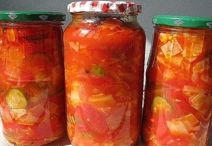«Гениальный» салат из овощей -заготовка на зиму