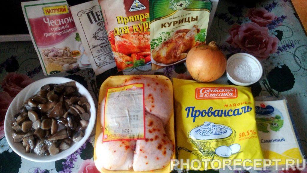 Фото рецепта - Фаршированные куриные ножки с грибами и сыром - шаг 1
