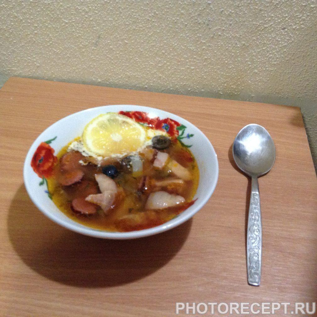 Фото рецепта - Солянка с картошкой - шаг 10