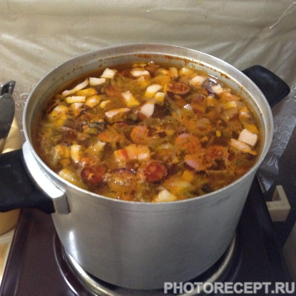 Фото рецепта - Солянка с картошкой - шаг 9
