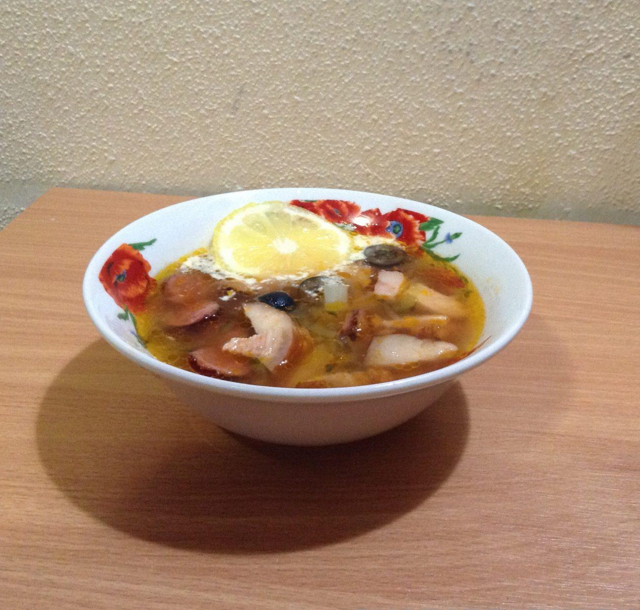 Солянка с картошкой