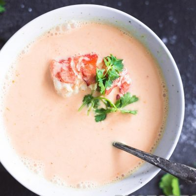 Молочный суп из омаров - рецепт с фото