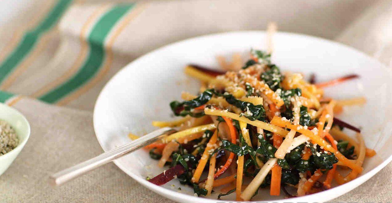 Морской салат из капусты и моркови
