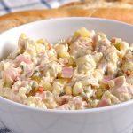 Мясной салат «Влашский» с картофелем, огурцами, яйцами и яблоком