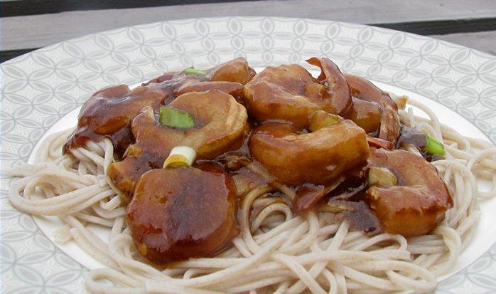 Паста с креветками в необычном соусе