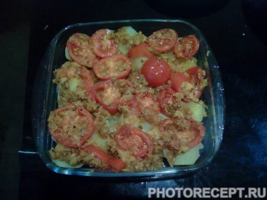 Фото рецепта - Запеченные баклажаны с картофелем и сыром - шаг 13