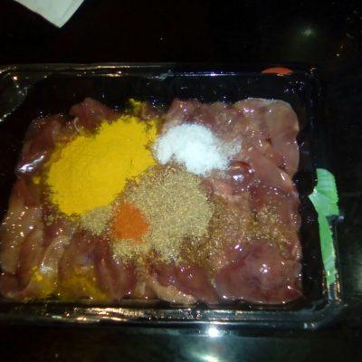 Фото рецепта - Печень куриная по-индийски - шаг 2