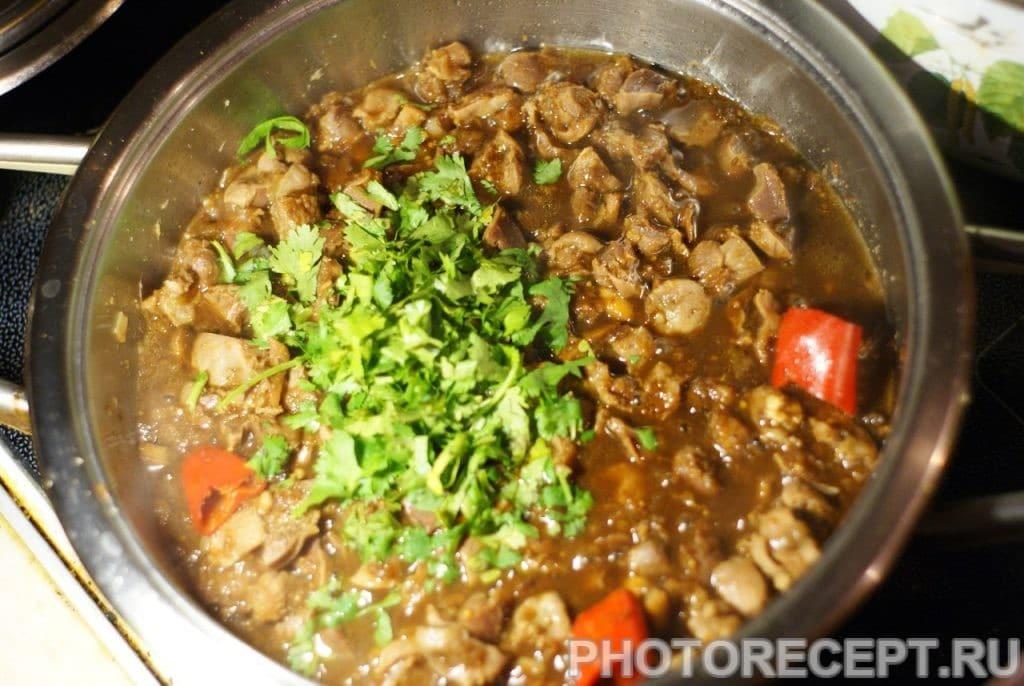 Фото рецепта - Куриные желудки по-тайски - шаг 15
