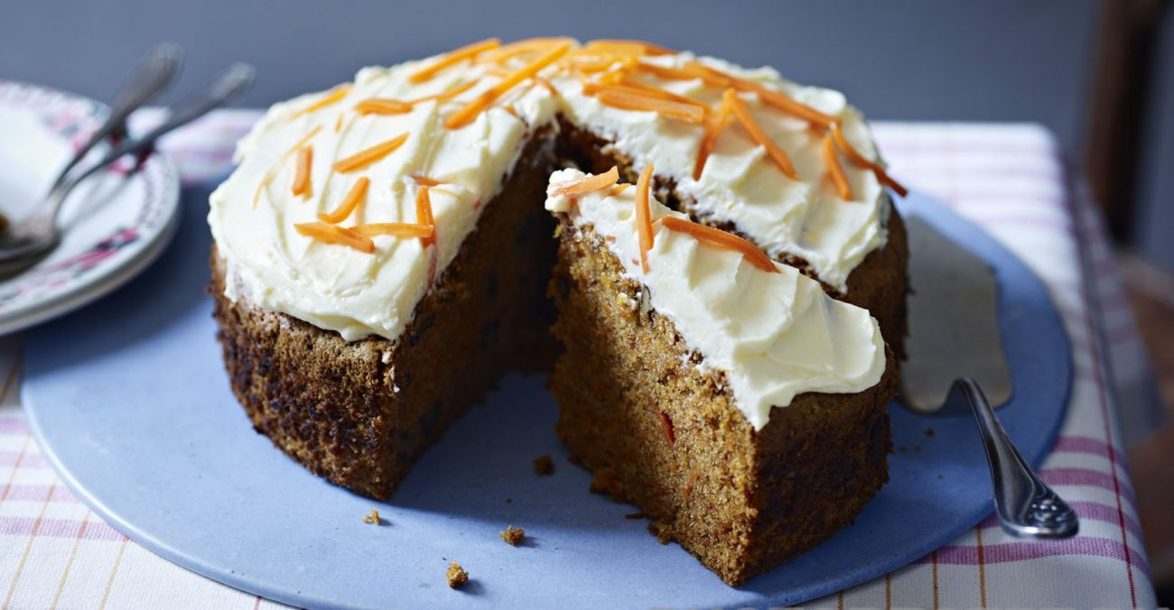 Пирог «Морковные грёзы» с сырной глазурью