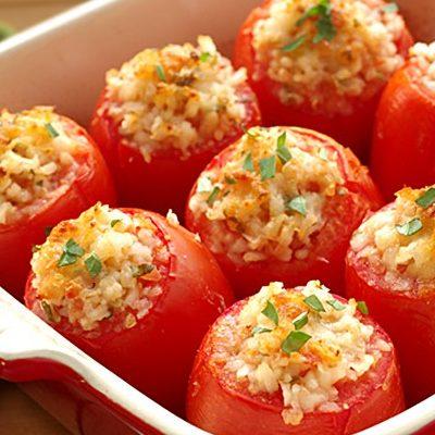 Помидоры, фаршированные рисом и яйцом - рецепт с фото