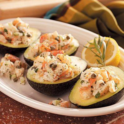 Салат из авокадо с креветками и сельдереем - рецепт с фото