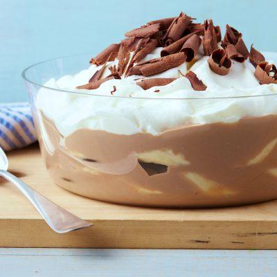Шоколадный пудинг с бананами - рецепт с фото