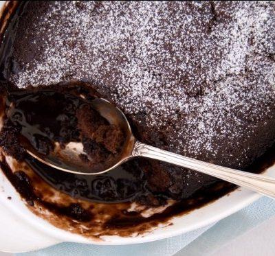 """Шоколадный пудинг """"Шоколетта"""" с соусом """"Линда"""" - рецепт с фото"""