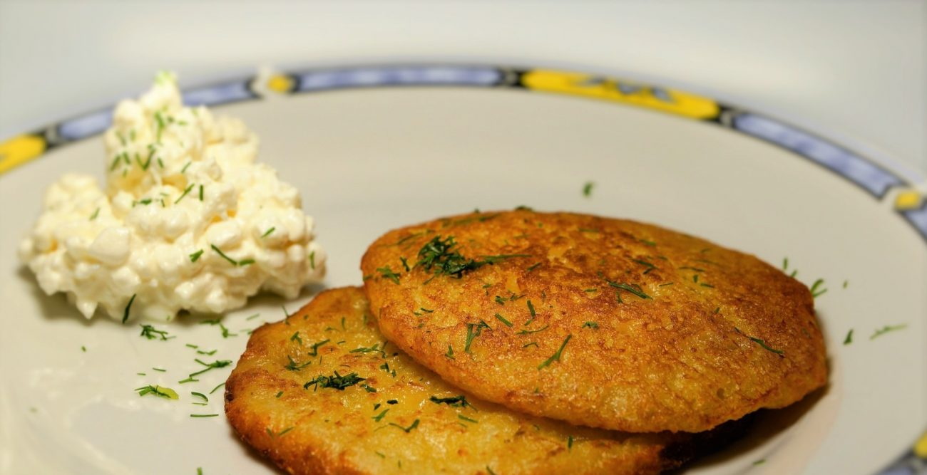 Сырно-картофельные лепешки