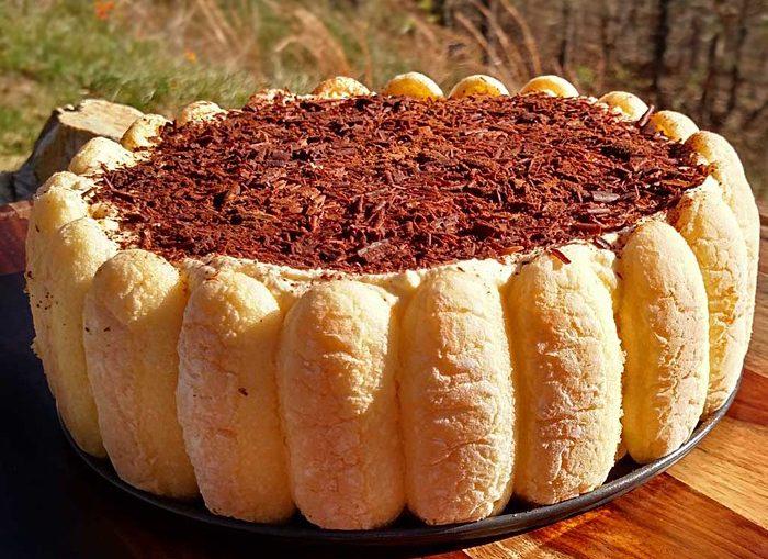 Торт из печенья с шоколадной сырной начинкой, без выпечки