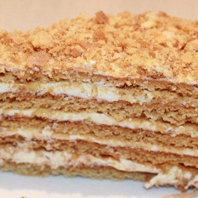 Торт медовик с заварным кремом - рецепт с фото