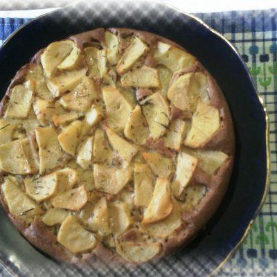 Открытый картофельный пирог с ржаной мукой - рецепт с фото