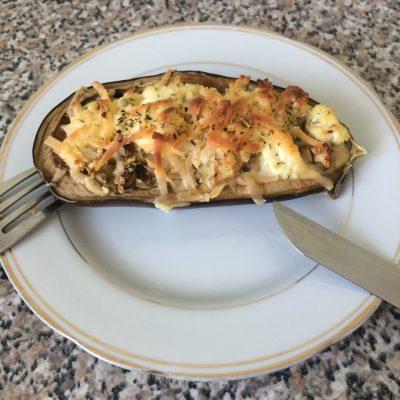 Фаршированный баклажан с творогом и сыром - рецепт с фото