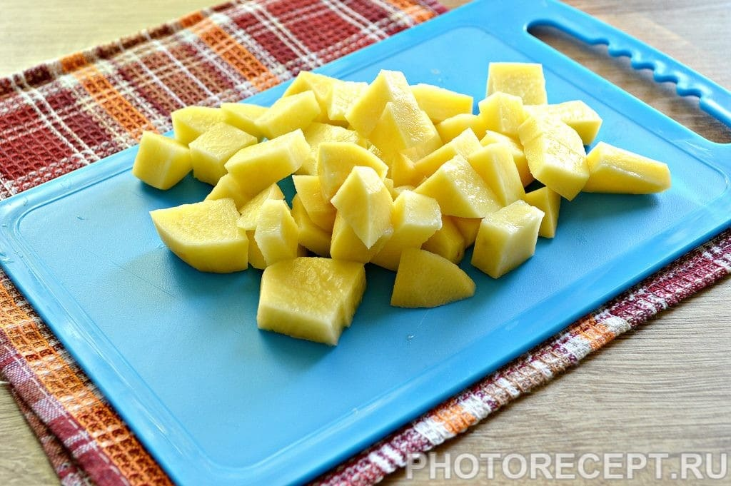 Фото рецепта - Опята с баклажанами и овощами - шаг 1