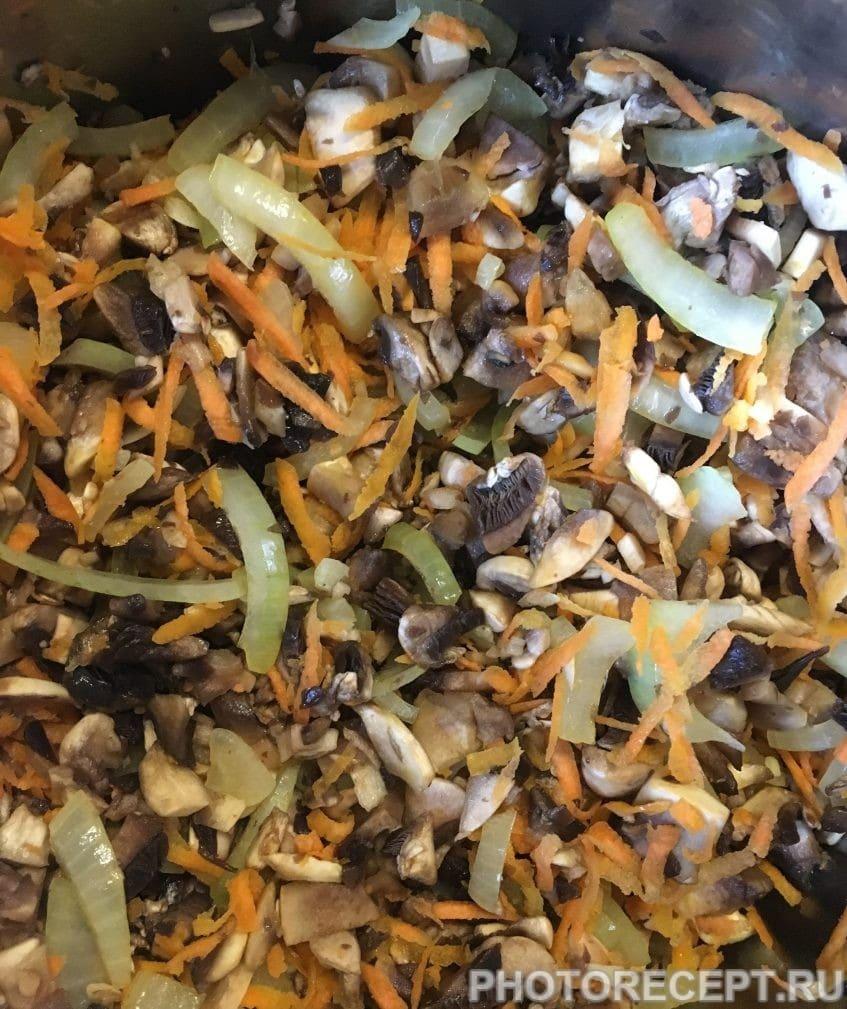 Гречневая каша с шампиньонами - рецепт пошаговый с фото