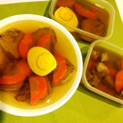 Заливное из языка на овощном бульоне - рецепт с фото