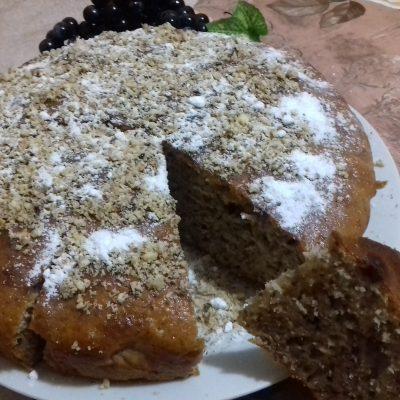Ореховый пирог на кефире - рецепт с фото