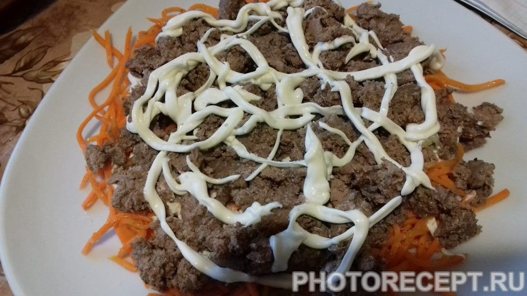 Фото рецепта - Салат из печени по-корейски - шаг 5