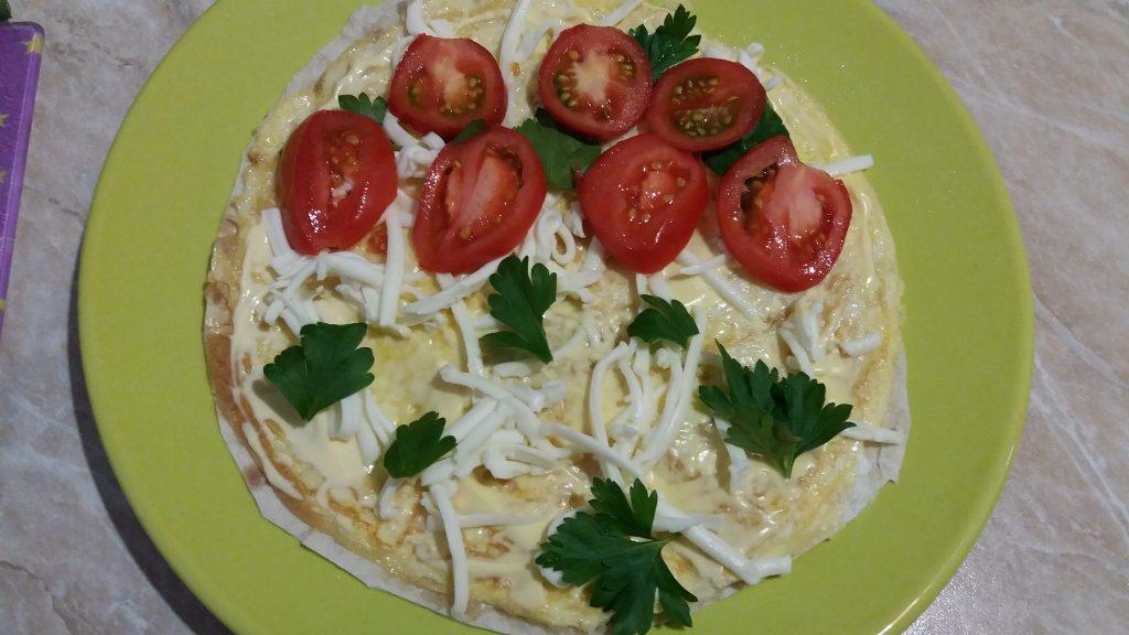 Фото рецепта - Яичница в лаваше на завтрак - шаг 7