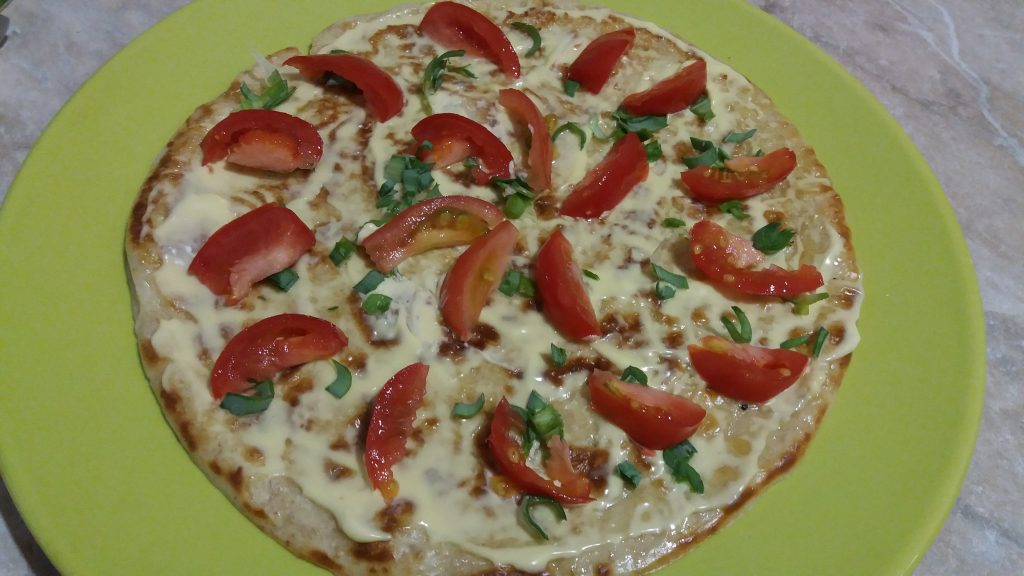Фото рецепта - Пицца из овсяноблина - шаг 4