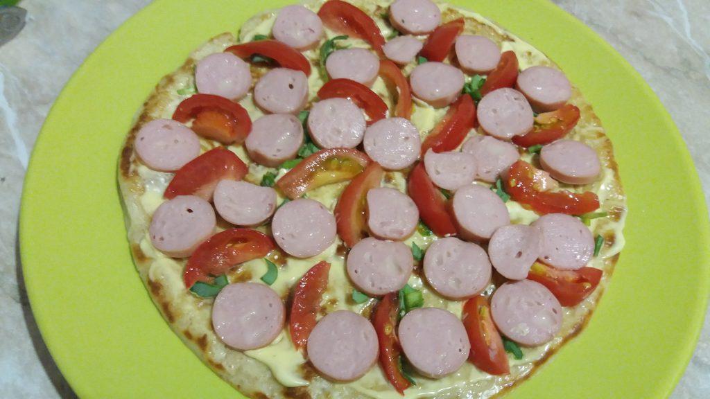 Фото рецепта - Пицца из овсяноблина - шаг 5