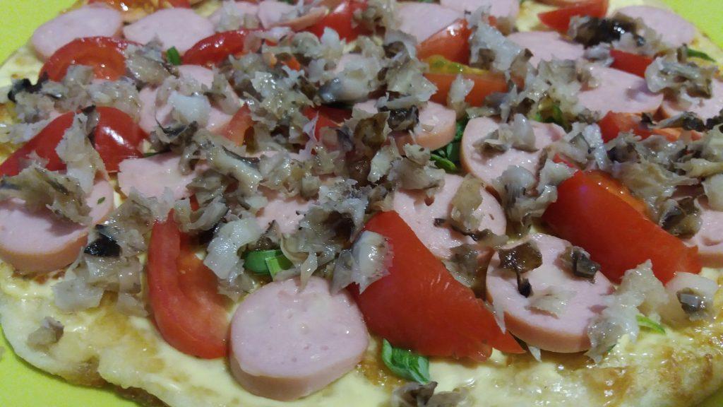 Фото рецепта - Пицца из овсяноблина - шаг 6