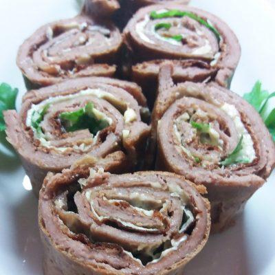 Печеночные роллы - рецепт с фото