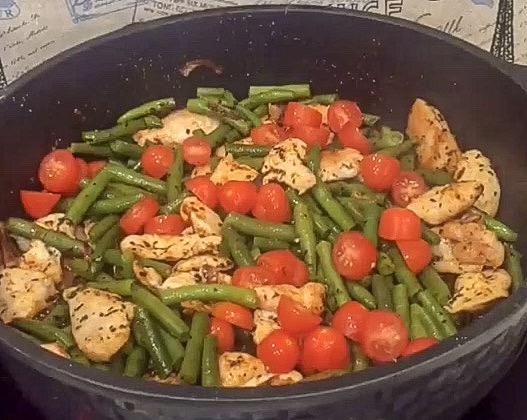 Фото рецепта - Паста с куриным филе и стручковой фасолью - шаг 4