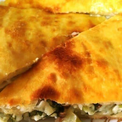 Пирог с брынзой и зеленью - рецепт с фото