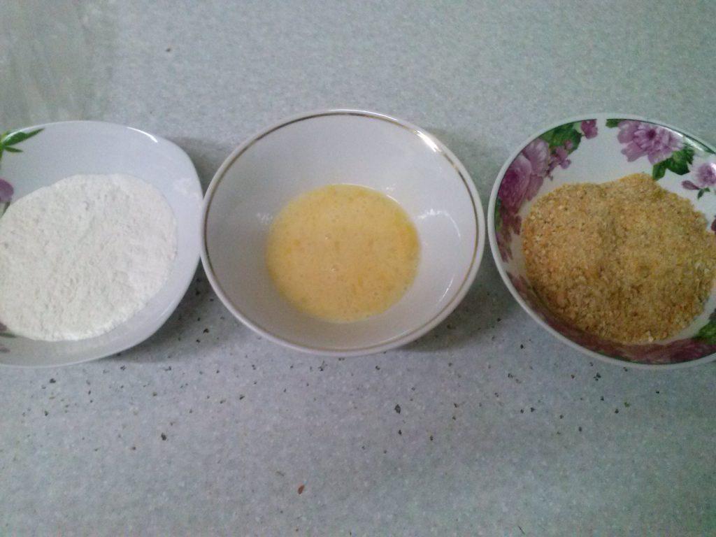 Фото рецепта - Кольца кальмара в ореховой панировке - шаг 3