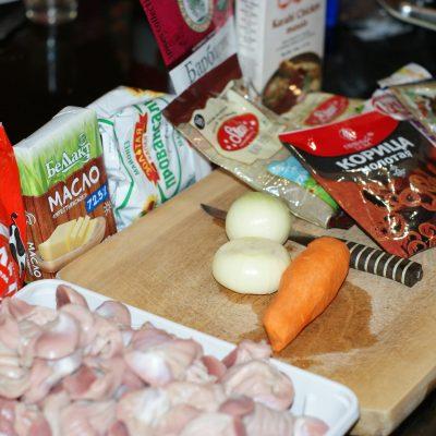 Фото рецепта - Куриные желудочки тушенные в сметане - шаг 1
