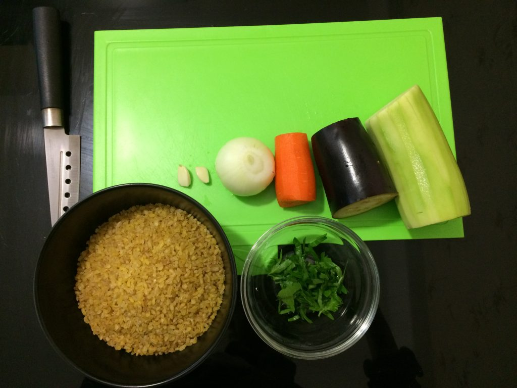Фото рецепта - Булгур с овощами - шаг 1