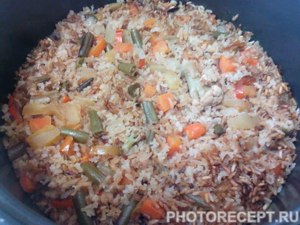 Фото рецепта - Рис с овощами в мультиварке - шаг 4