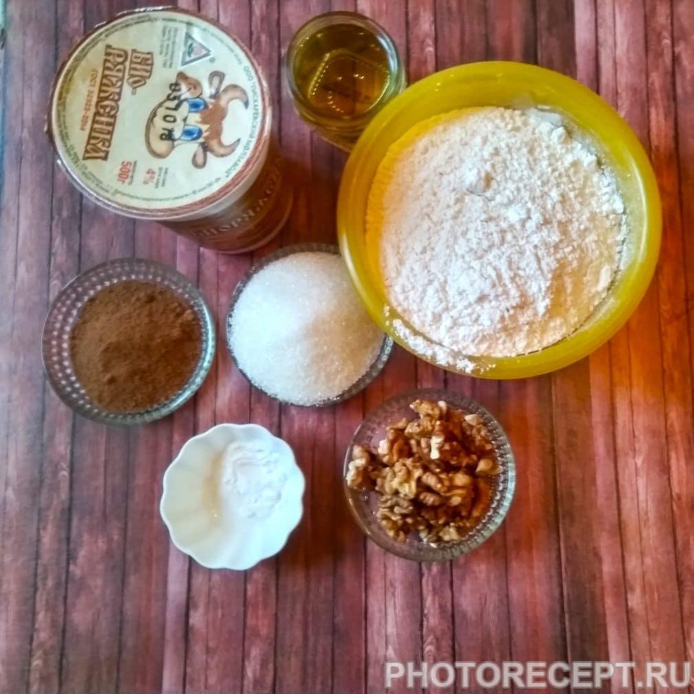 Фото рецепта - Шоколадный кекс на ряженке - шаг 1