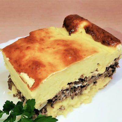 Картофельная запеканка с мясным фаршем - рецепт с фото