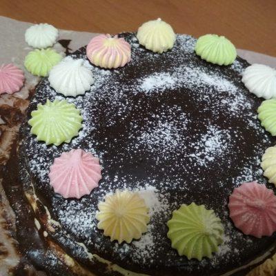 """Фото рецепта - Торт с марципаном """"Шоколадное вдохновение"""" - шаг 12"""
