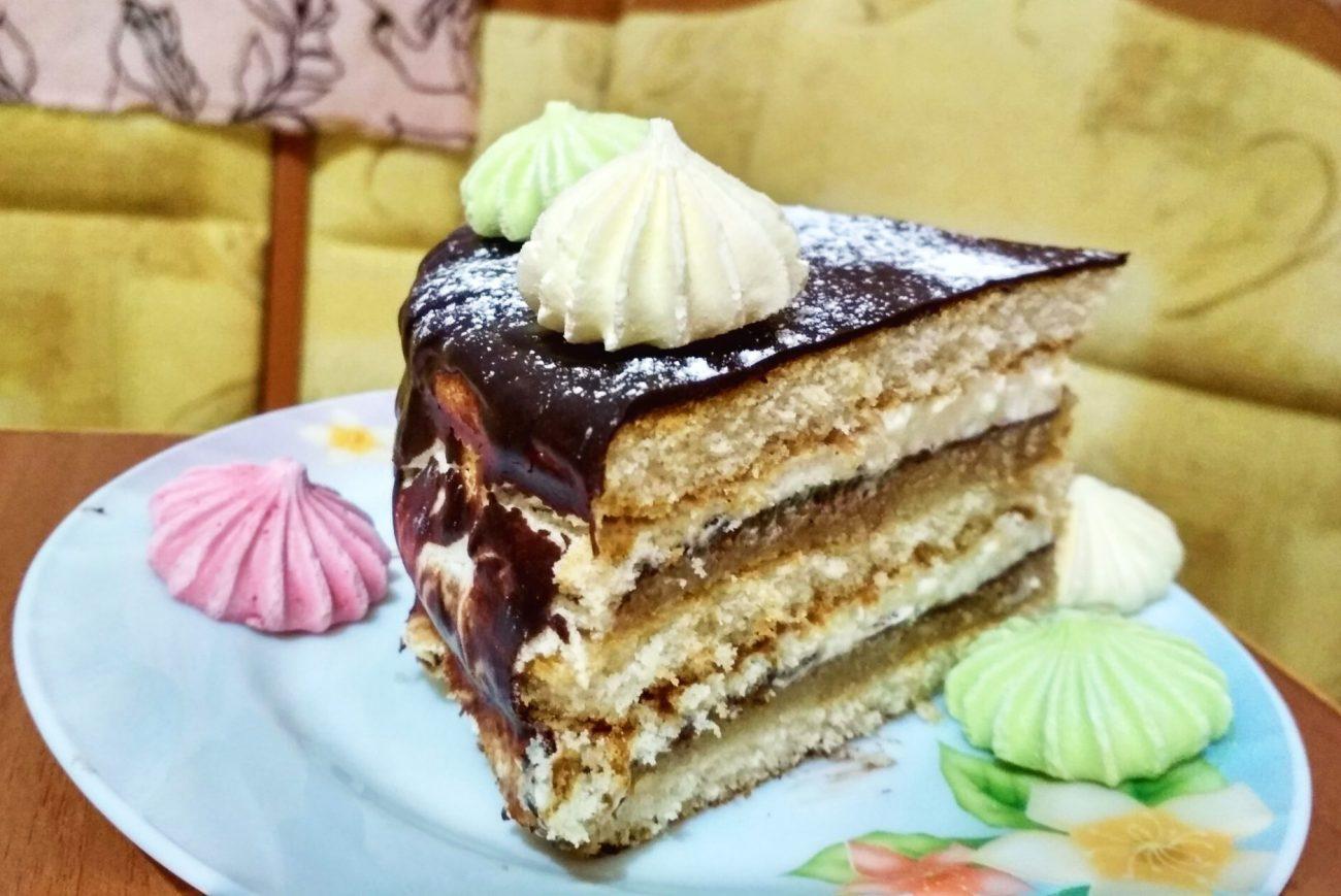 """Торт с марципаном """"Шоколадное вдохновение"""""""