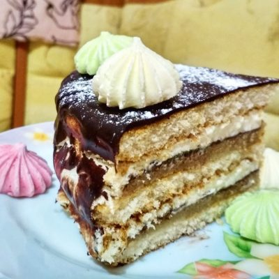 """Торт с марципаном """"Шоколадное вдохновение"""" - рецепт с фото"""