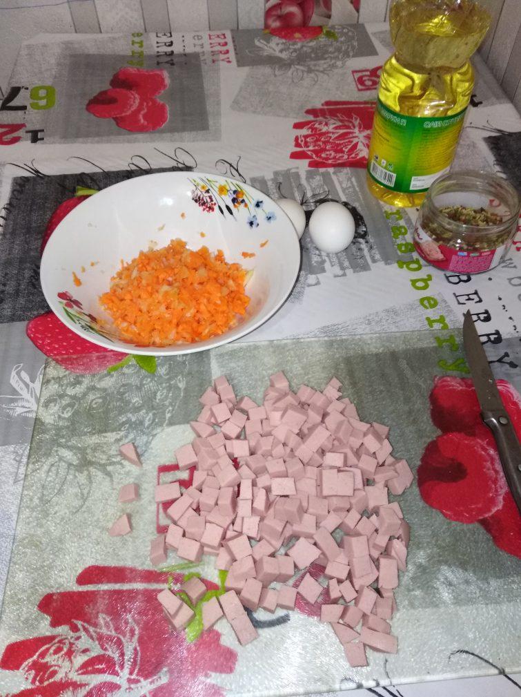 Фото рецепта - Чахан - шаг 2