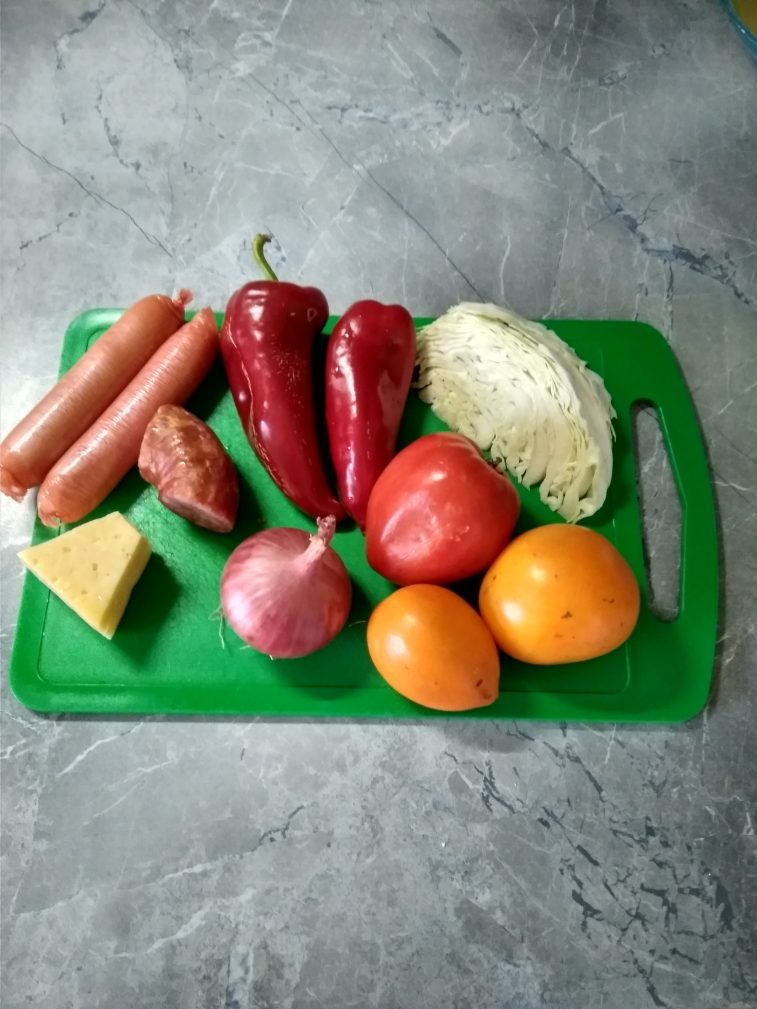 Фото рецепта - Пицца на сметанном тесте на сковороде - шаг 1